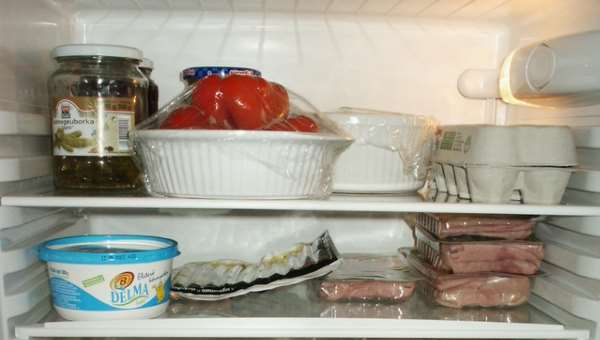intérieur de frigo